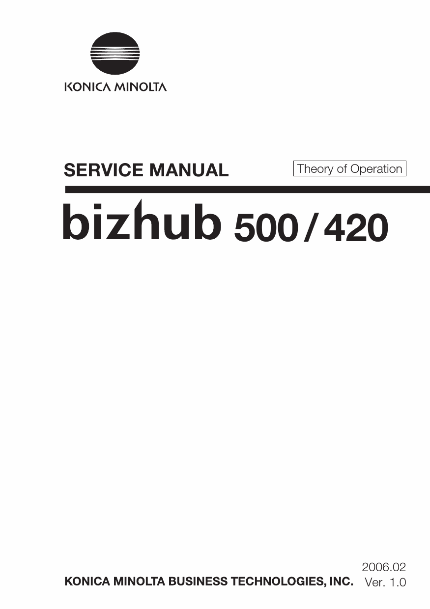 Konica-Minolta bizhub 420 500 THEORY-OPERATION Service Manual